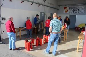 Feuerlöscherüberprüfung beim Rüsthaus